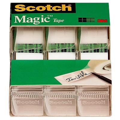 Scotch® Magic™ Tape, 3/4  x 350 , 3pk