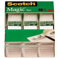 "Scotch Magic Tape, 3/4"" x 350"", 3pk"
