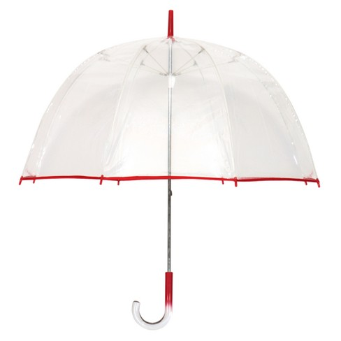 Futai Clear Bubble Umbrella with Red Trim - image 1 of 1