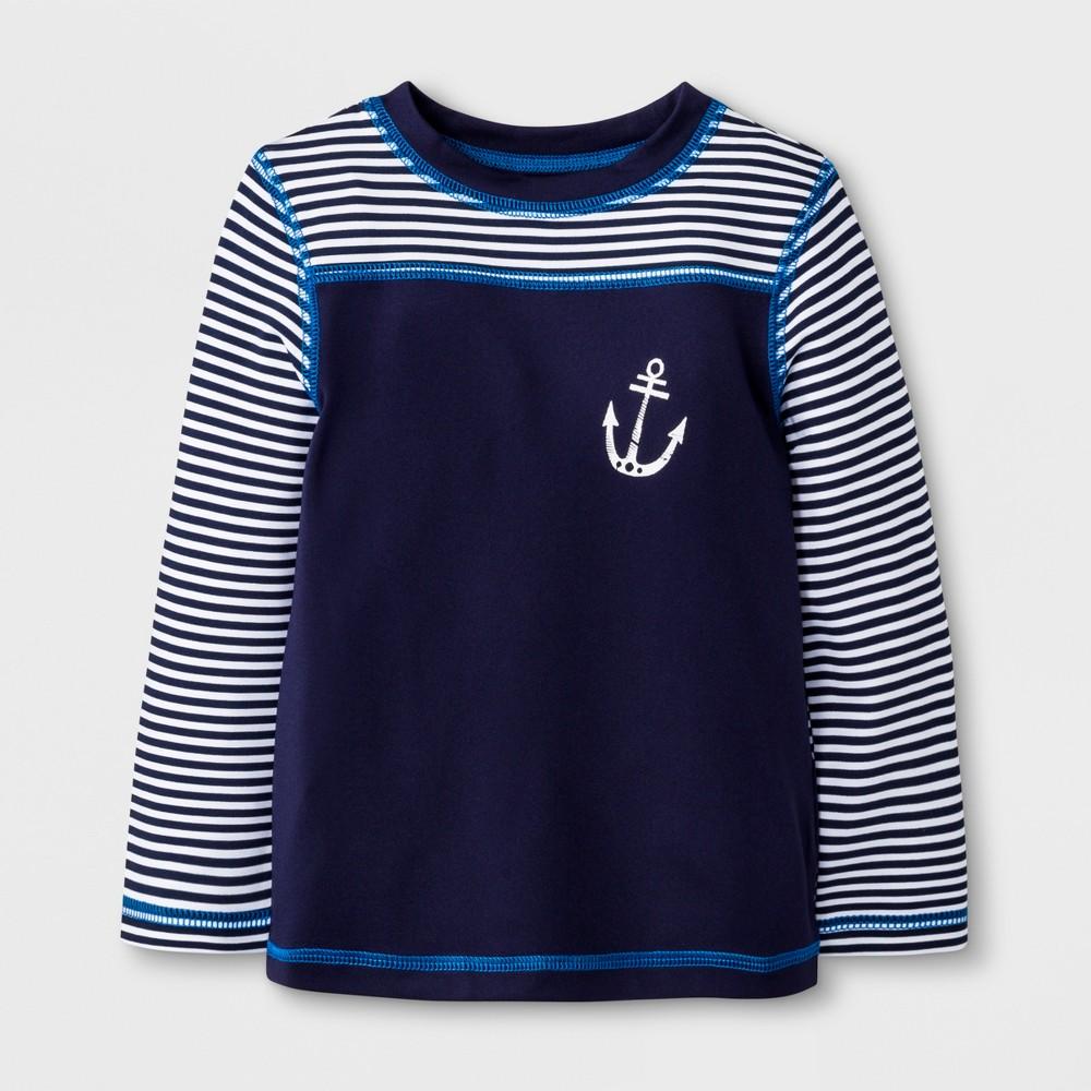 Baby Boys' Long Sleeve Anchor Rash Guard - Cat & Jack Navy 9M, Blue