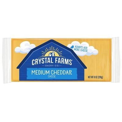Crystal Farms Medium Cheddar Cheese - 8oz