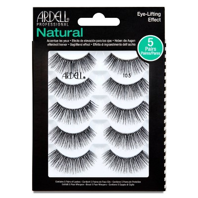 Ardell Professional Natural 105 Eyelash Multipack Black - 5ct