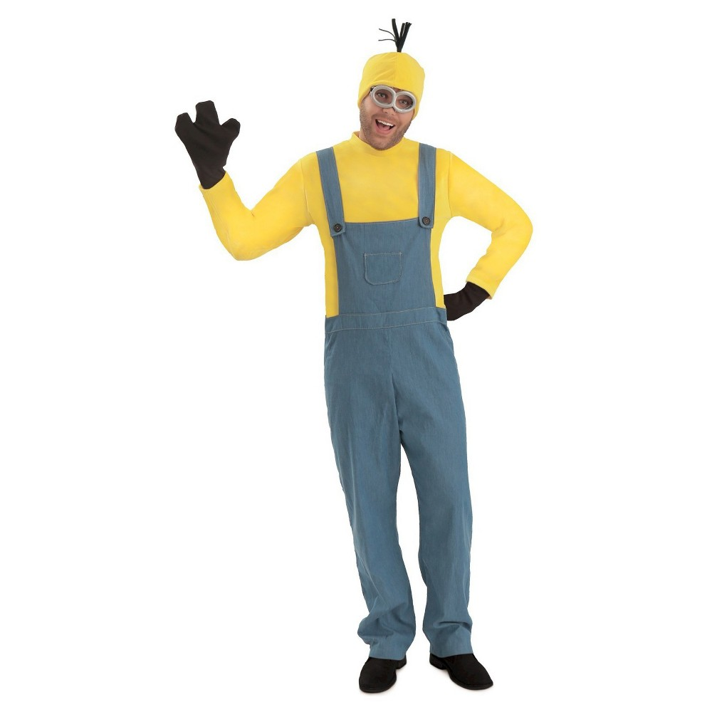 Men's Minions Kevin Jumpsuit Costume X-Large, Size: XL, Yellow