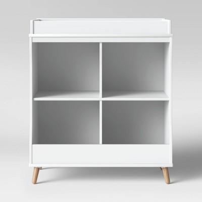 Delta Children Essex Changing Table/Bookcase - Bianca White