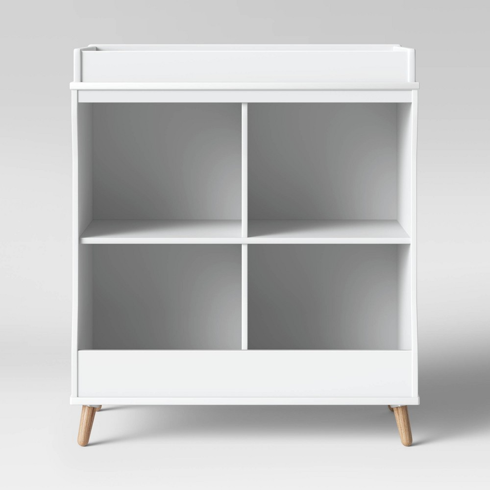 Image of Delta Children Essex Changing Table/Bookcase - Bianca White
