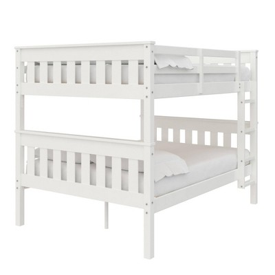 Full Over Full Petty Wood Bunk Bed with USB Port - Room & Joy