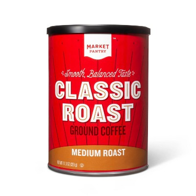 Classic Roast Medium Roast Ground Coffee - 11.3oz - Market Pantry™