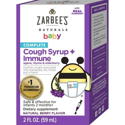 Zarbees Baby Cough Syrup & Immune Dietary Supplement - 2 fl oz