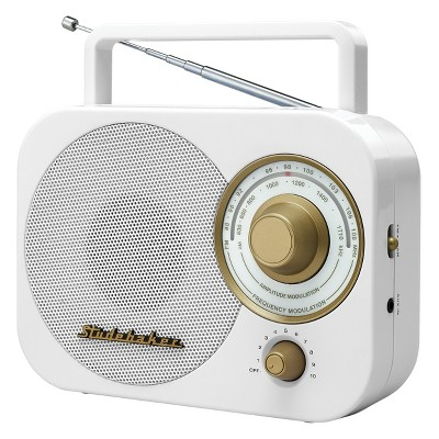 Studebaker Portable AM/FM Radio (SB2000)- White