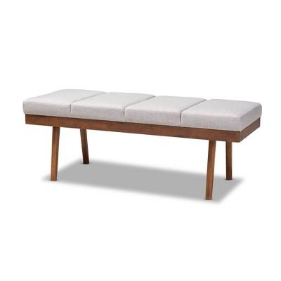 Larisa Wood Bench - Baxton Studio