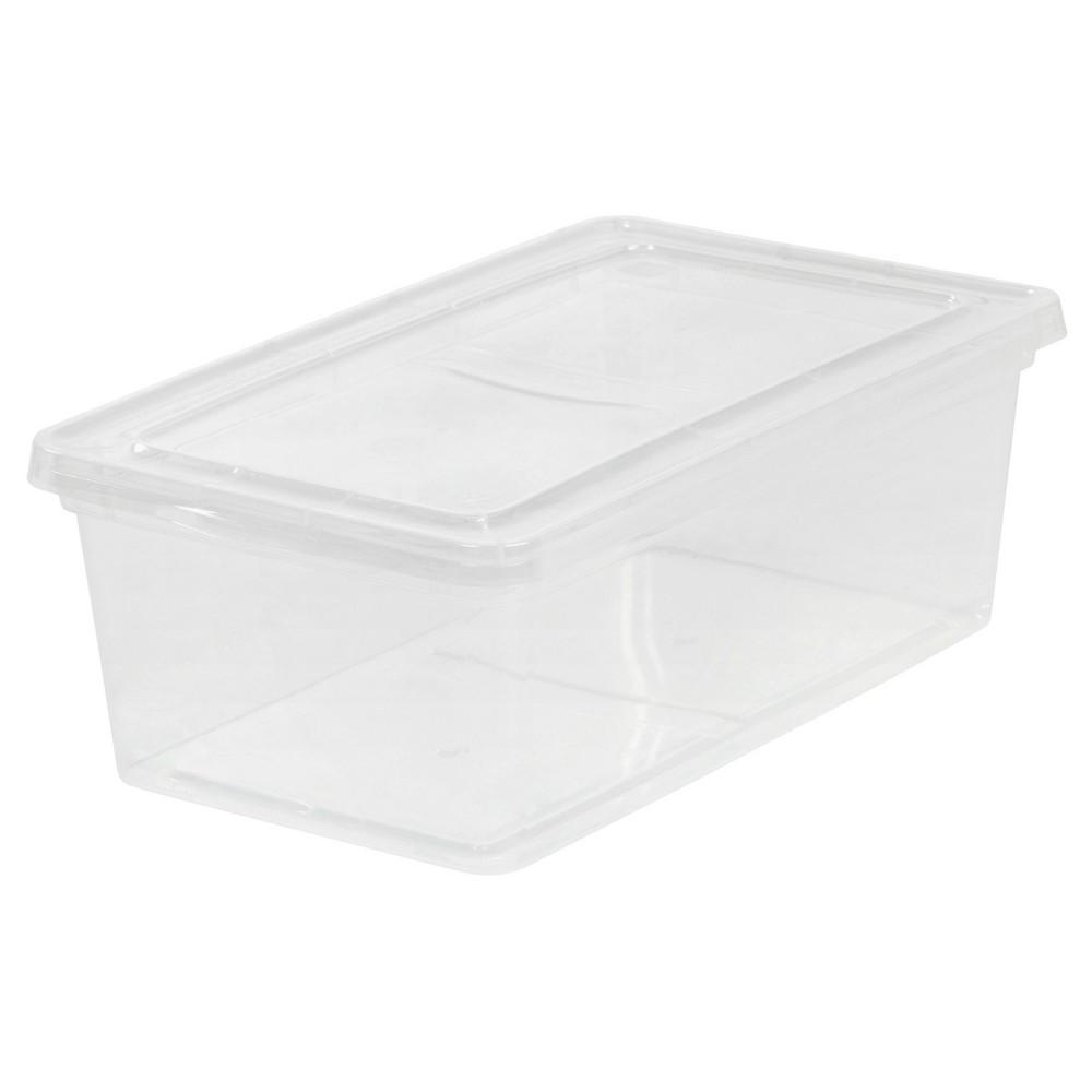 Iris 6 Qt Plastic Storage Bin - 18 Pack, Clear