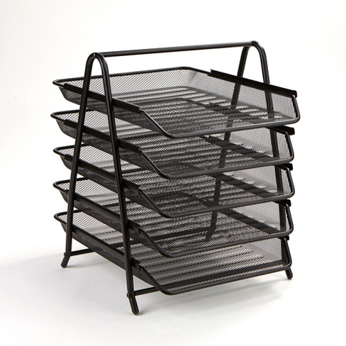 5 Tier Mesh Document Tray Black - Mind Reader - image 1 of 6