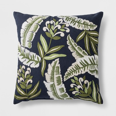 Palm Print Throw Pillow - Blue/Green - Threshold™