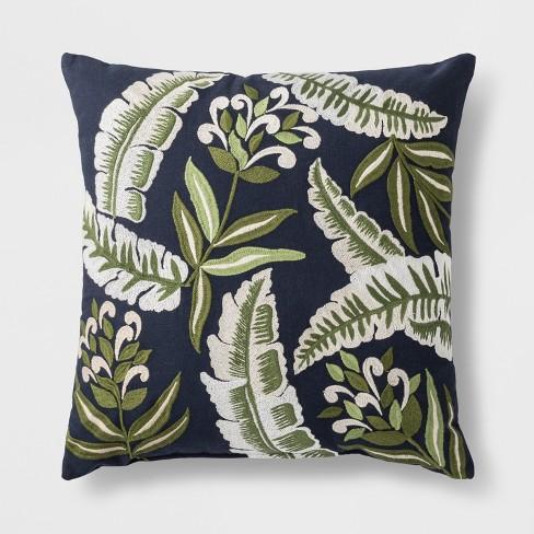 palm print throw pillow blue green threshold target