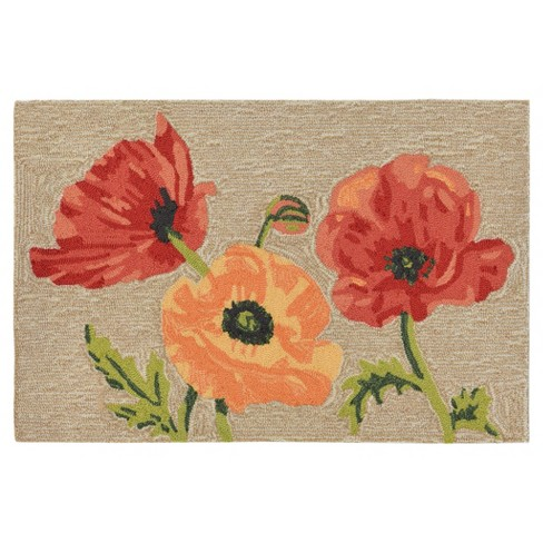 Ravella Poppies Natural Tufted Rug - Liora Manne - image 1 of 3