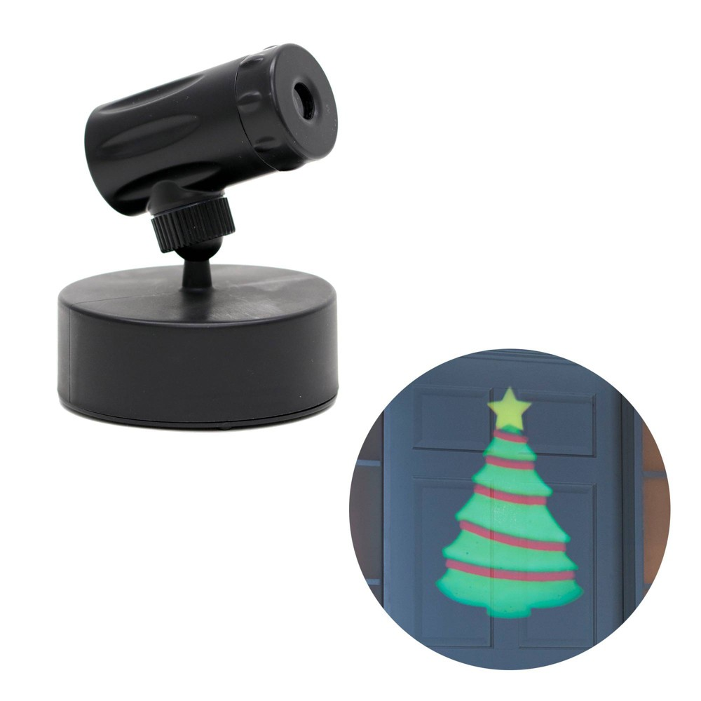Image of Philips Battery Operated LED Christmas Tree Projector Green