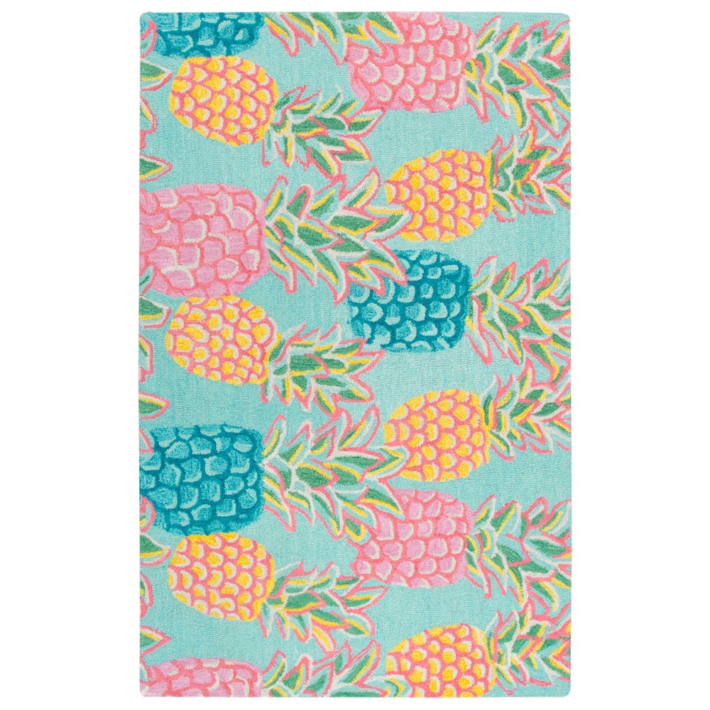 "Image of ""2'6""""X4' Tufted Fruit Accent Rug Blue - Rizzy Home"""