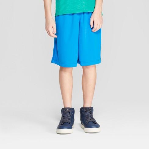 Boys' Activewear Shorts - Cat & Jack™ Blue - image 1 of 3
