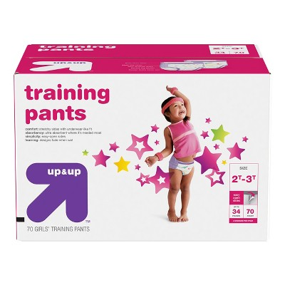 Training Pants for Girls 2T-3T (70ct)- Up&Up™