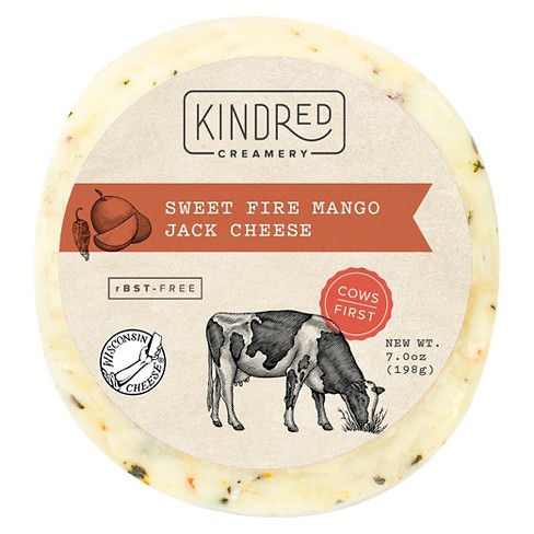 Kindred Creamery Sweet Fire Mango Jack Cheese - 5.3oz - image 1 of 1