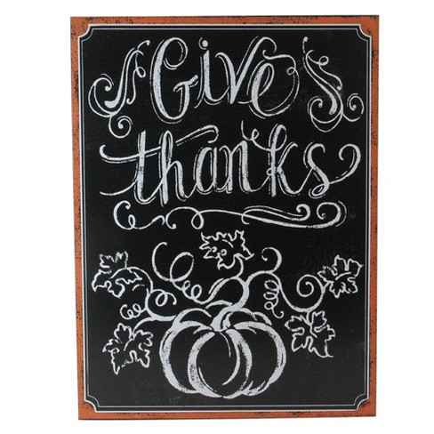 "Northlight 14"" Framed Give Thanks Inscribed Chalkboard Wall Art - image 1 of 3"