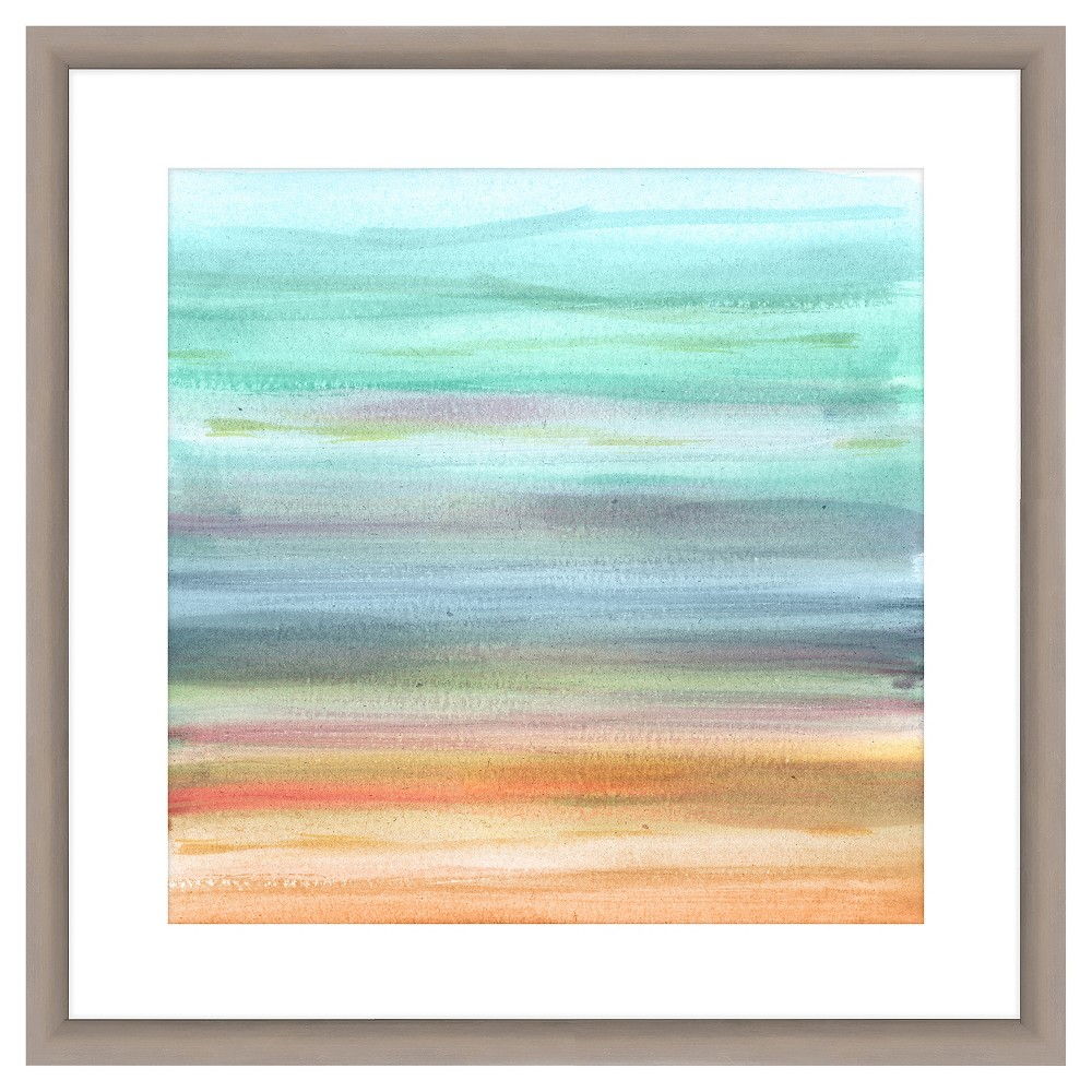 Pastel Paint Brushes I 18X18 Wall Art, Multi-Colored
