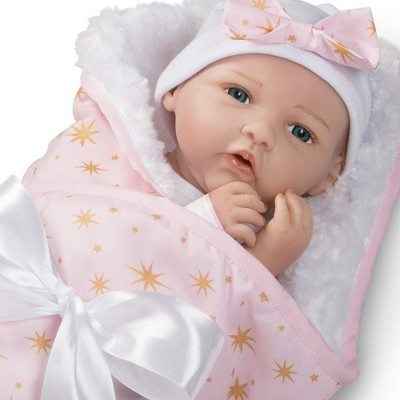 Paradise Galleries Reborn Baby Doll in Silicone-like Vinyl, 19 inch Newborn Girl Baby Bundles: Born To Sparkle, 7-Piece Ensemble