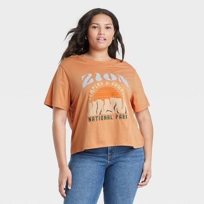 Women's Zion Short Sleeve Graphic T-Shirt - Camel