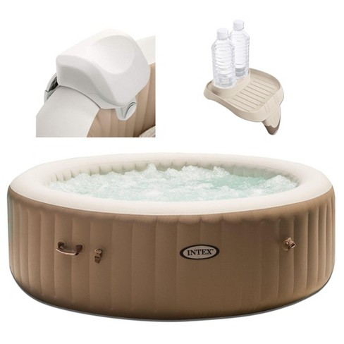 Intex 28403E Pure Spa 4 Person Inflatable Hot Tub With Headrest And Cup Holder - image 1 of 6