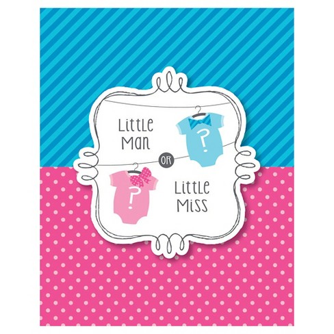baby gender reveal invitations 8 per pack target