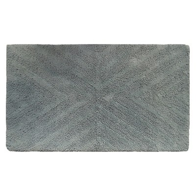 Textured Stripe Bath Rug (20 X34 )Gray Aqua - Project 62™ + Nate Berkus™
