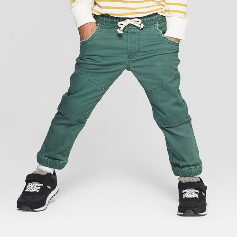 Genuine Kids® from OshKosh Toddler Boys' Jogger Pull-On Pants - Green 4T - image 1 of 3