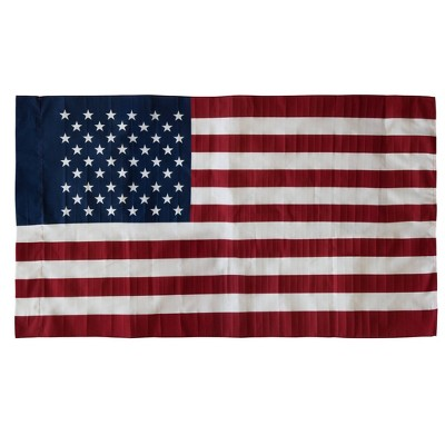 2.5' x 4' American Banner And Flag Pole Set