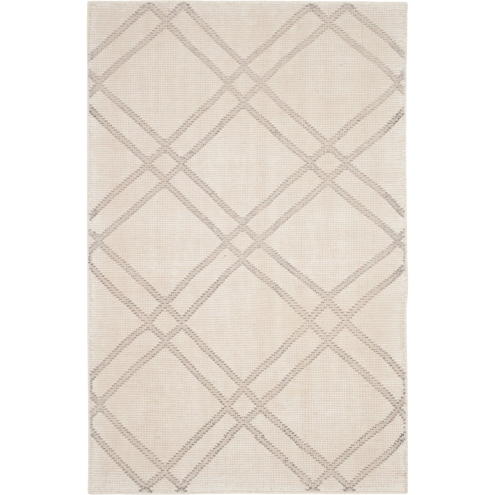 4'X6' Geometric Knotted Area Rug Dove/Ivory - Safavieh