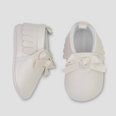 Baby Girls' Bow Moccasin - Just One You® made by carter's Gold 0-3M