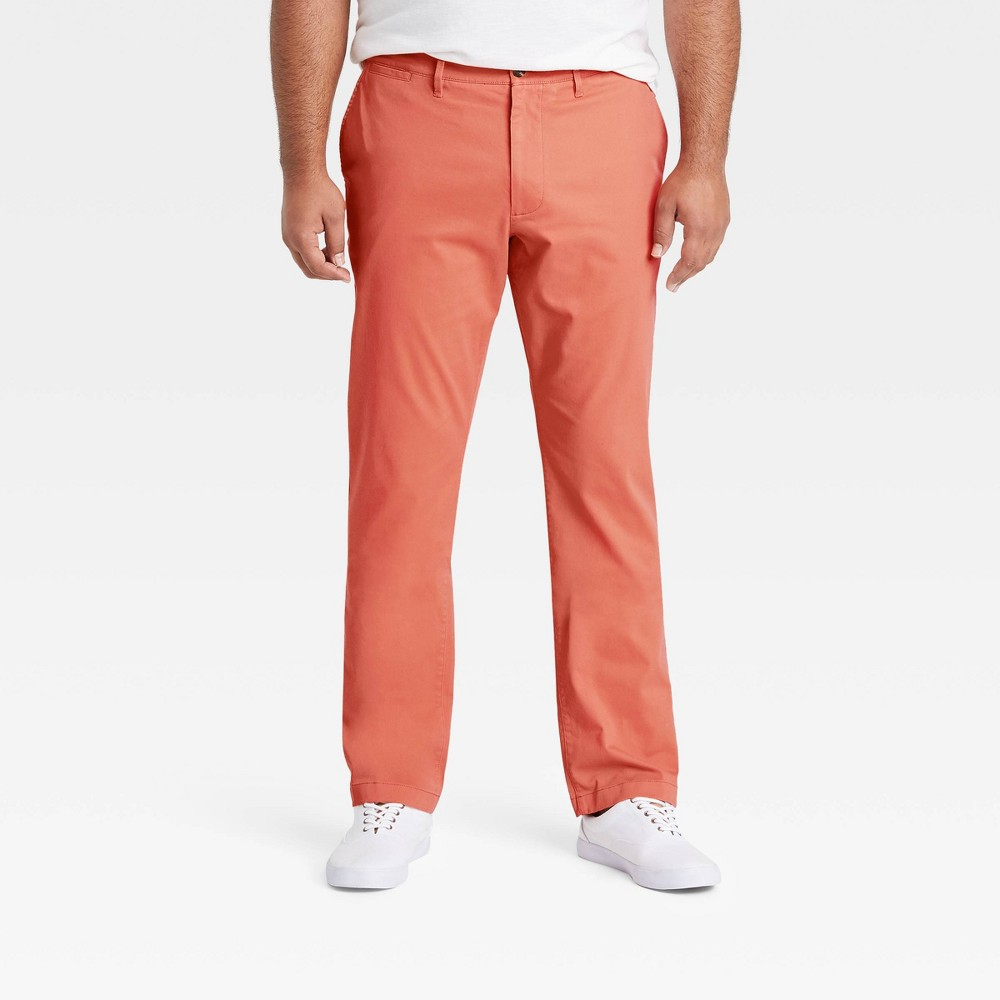 Men 39 S Big 38 Tall Athletic Fit Hennepin Chino Pants Goodfellow 38 Co 8482 Coral Stone 50x32