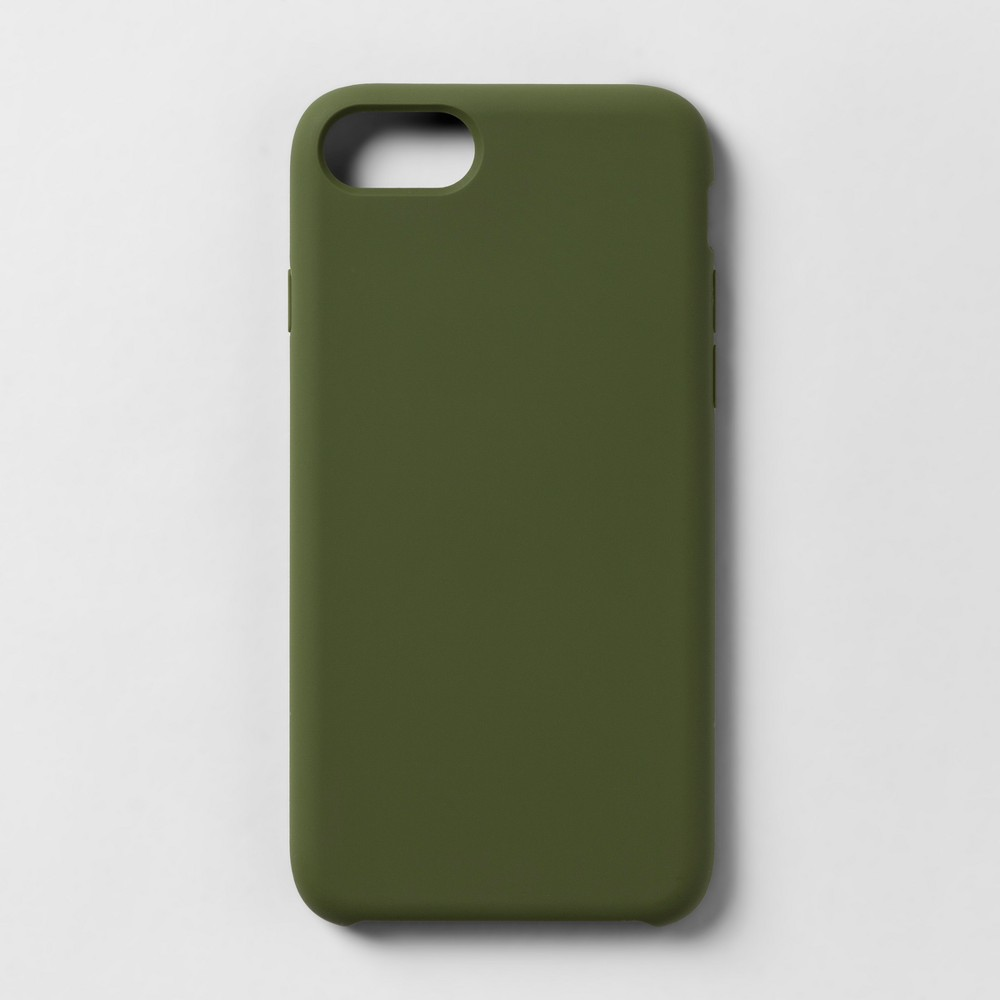 heyday Apple iPhone 8/7/6s/6 Silicone Case - Olive, Green