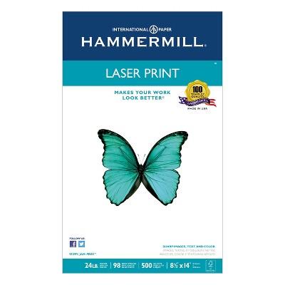 32lb Hammermill 104646 Laser Print Office Paper 500 Sheets//RM 8-1//2 x 11 White 98 Brightness