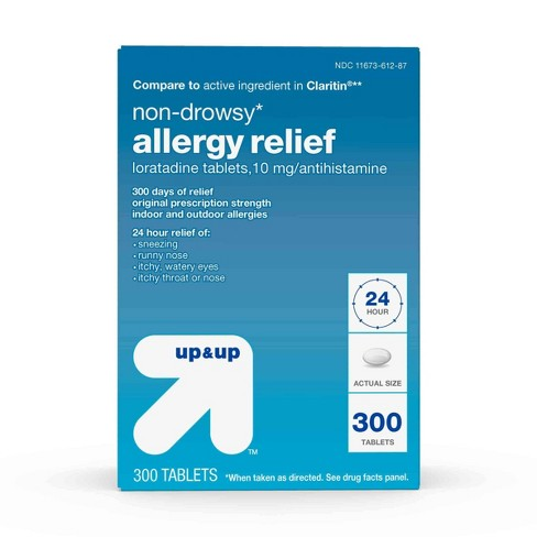 Loratadine Allergy Relief Tablets - 300ct - Up&Up™ - image 1 of 6