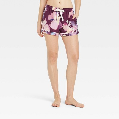 Women's Floral Print Simply Cool Pajama Shorts - Stars Above™ Purple