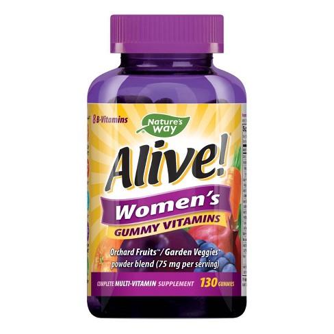 Nature's Way Alive! Women's Multivitamin Gummies - Fruit - 130ct - image 1 of 4
