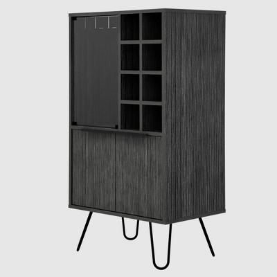Aster Bar Cabinet Smokey Oak - RST Brands