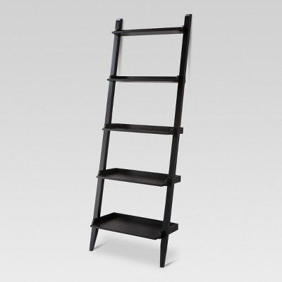 "72"" Carson Leaning Bookcase Black - Threshold™"