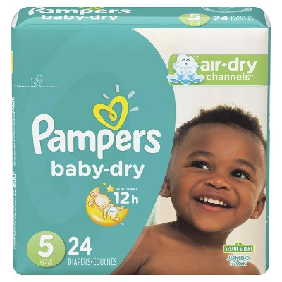 Pampers Baby Dry Diapers, Jumbo Pack - Size 5 - 24ct