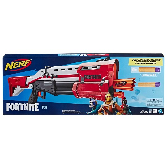 NERF Fortnite TS Blaster - Pump Action MEGA Dart Blaster image number null