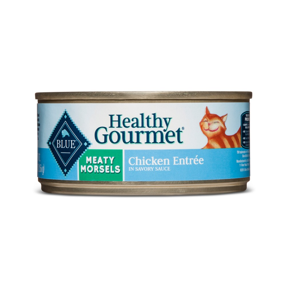 Blue Buffalo Healthy Gourmet Adult Meaty Morsels Chicken Entree - Wet Cat Food - 5.5oz