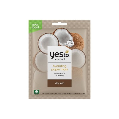 Yes to Coconut Hydrate & Restore Ultra Hydrating Face Mask - 1ct
