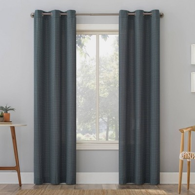 Elgin Contrast Stitch Semi-Sheer Grommet Top Curtain Panel - No. 918