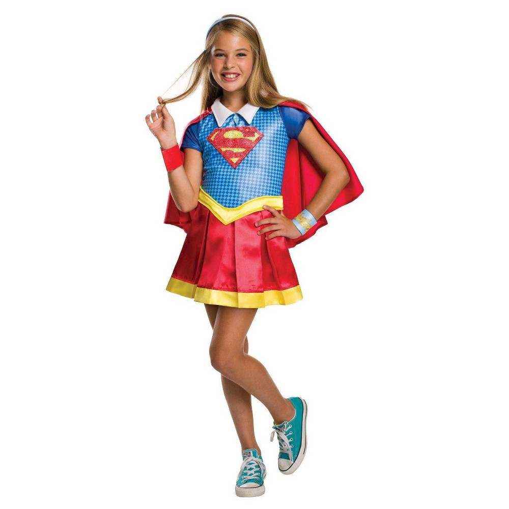 Image of Halloween DC Super Hero Girls' Supergirl Costume Small, Girl's, Size: Small(4-6), MultiColored