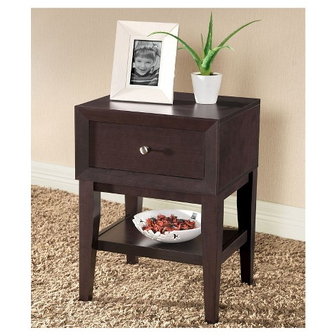 Gaston Modern Accent Table and Nightstand Brown - Baxton Studio - image 1 of 2